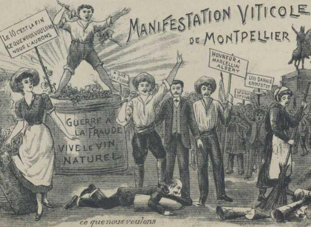 Vin-affiche-manifestation-1907 - Ouxita